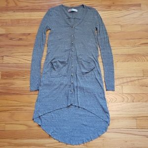 Free People - Beach Maxi Cardigan Duster Gray XS